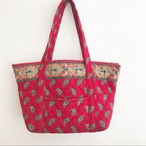 Vera Bradley Vintage Red Paisley Tote Bag